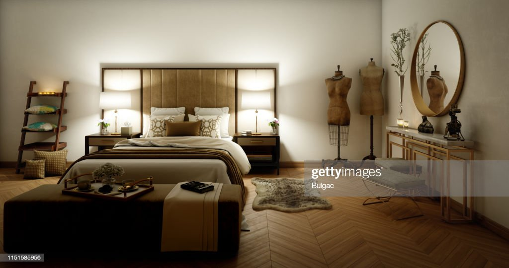 Fancy Bedroom Interior High Res Stock Photo Getty Images
