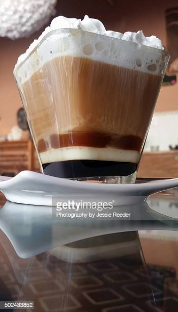 Fancy coffee served in layers