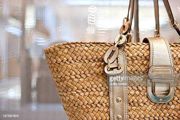fancy hand bag - gold purse stock pictures, royalty-free photos & images