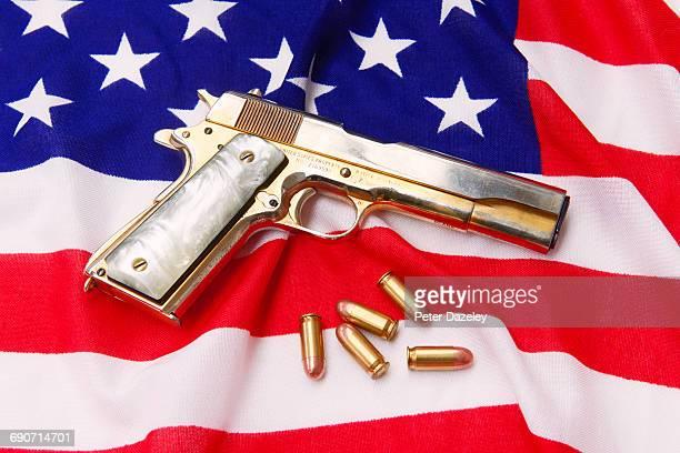 Fancy hand gun with bullets