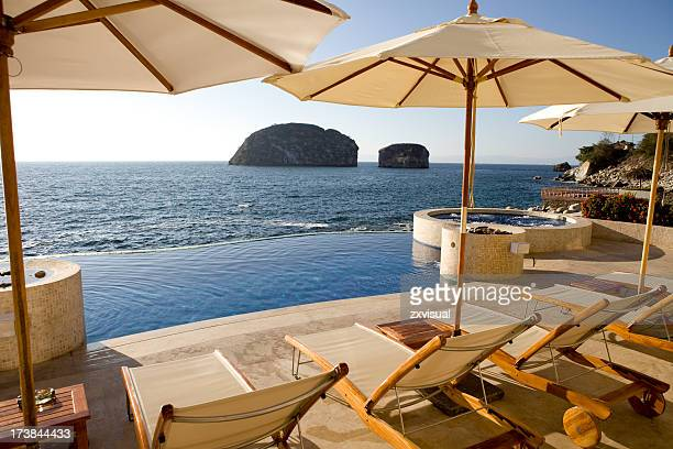 Fancy villa sundeck near the sea