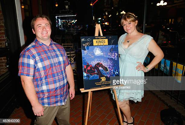 Fandango's Joe P Harris and Amber Frakes attend 4th Annual Kings of Con Party during ComicCon International 2014 at Coyote Ugly on July 24 2014 in...
