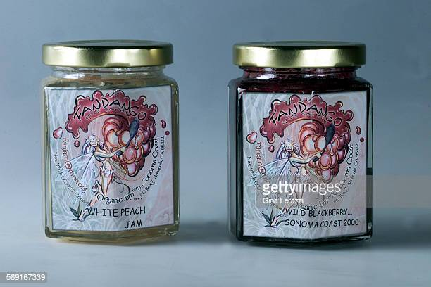 Fandango's white peach and wild blackberry jams from Sonoma.