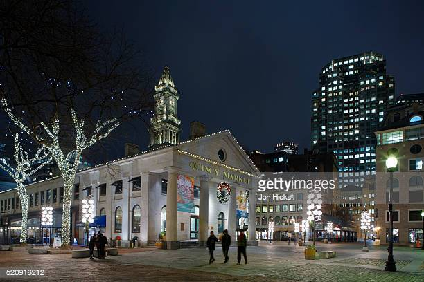 Faneuil Hall Marketplace during The Holidays, Boston, Massachusetts.