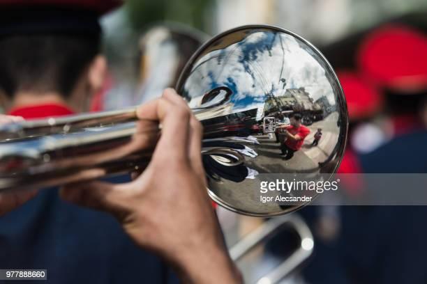 fanfare orkest, rio de janeiro, brazilië - kapel stockfoto's en -beelden