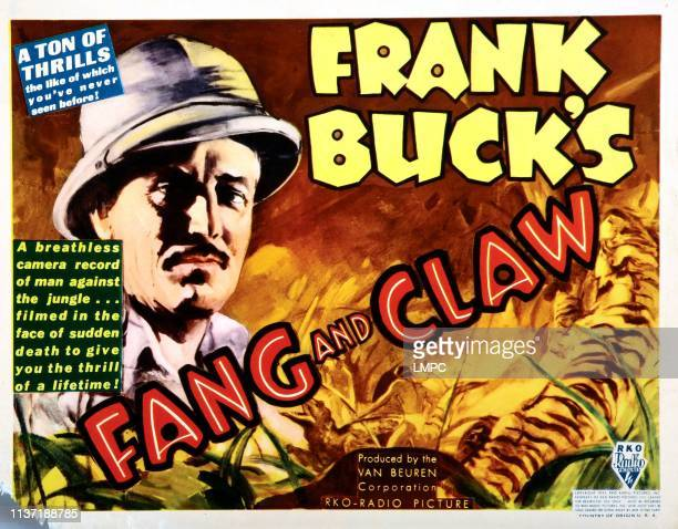 Fang And Claw poster Frank Buck 1935