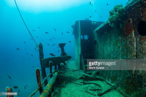 fang ming shipwreck in la paz - sea of cortez stock pictures, royalty-free photos & images
