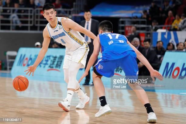 Fang Shuo of Beijing Ducks in action during 2019/2020 CBA League - Beijing Ducks v Tianjin Pioneers at Beijing Wukesong Sport Arena on January 2,...