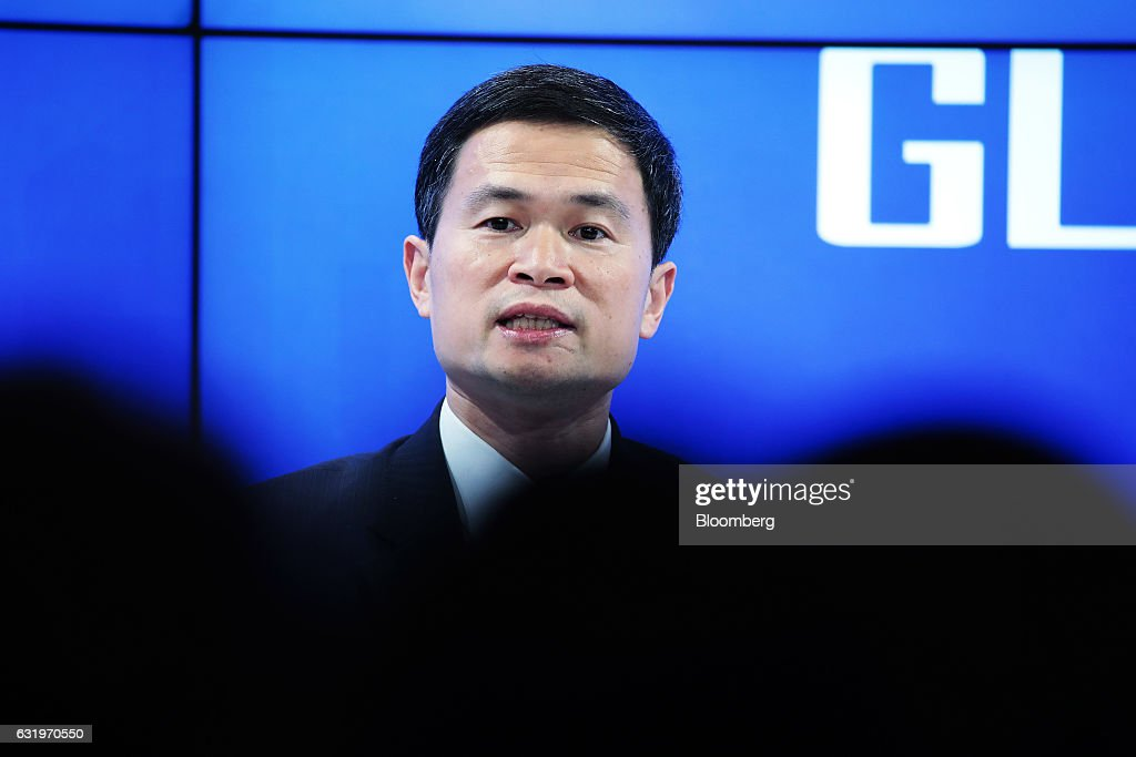 Fang Xinghai, vice chairman of China Securities Regulatory Commission, speaks during a panel session at the World Economic Forum (WEF) in Davos, Switzerland, on Wednesday, Jan. 18, 2017. World leaders, influential executives, bankers and policy makers attend the 47th annual meeting of the World Economic Forum in Davos from Jan. 17 - 20. Photographer: Jason Alden/Bloomberg via Getty Images