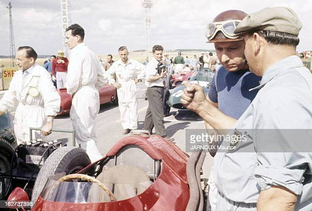 Fangio At The 1957 France Acf Grand Prix In Reims