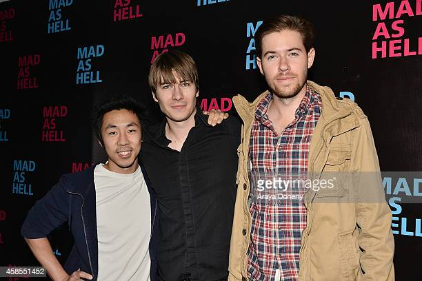 Fangso Liu Andrew Napier and Haines Landry attend the The Young Turks Documentary 'Mad as Hell' Los Angeles Premiere at Harmony Gold Theatre on...