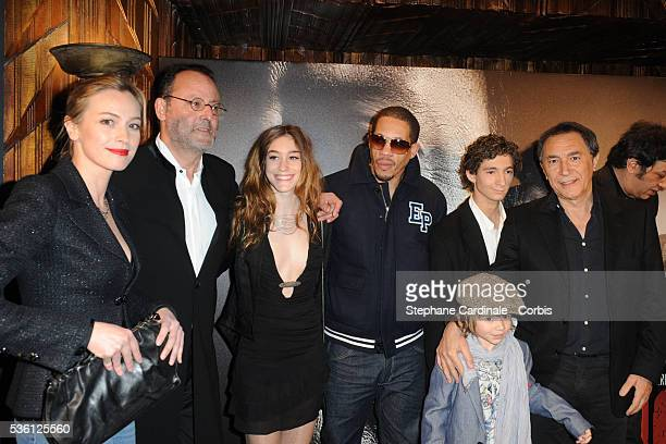 Fani Kolarova Jean Reno Josephine Berry Joey Starr Anthony Sonigo and Richard Berry attend the premiere of 'L'Immortel' in Paris