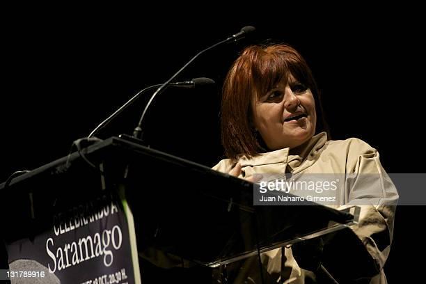 Fani Rubio attends Jose Saramago's tribute at Auditorio Pilar Bardem on October 18 2010 in RivasVaciamadrid Spain