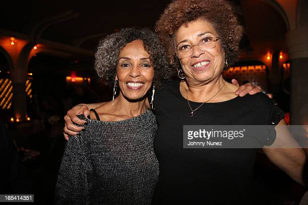 Fania Davis and Angela Davis attend the 'Free Angela and All Political Prisoners' New York Premiere after party at Red Rooster Restaurant on April 3...