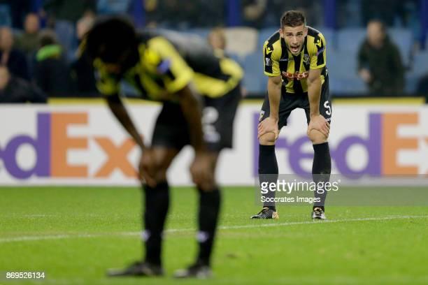 Fankaty Dabo of Vitesse, Matt Miazga of Vitesse during the UEFA Europa League match between Vitesse v Zulte Waregem at the GelreDome on November 2,...
