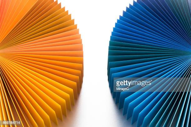 fanned out paper cards opposite - miragec stock pictures, royalty-free photos & images