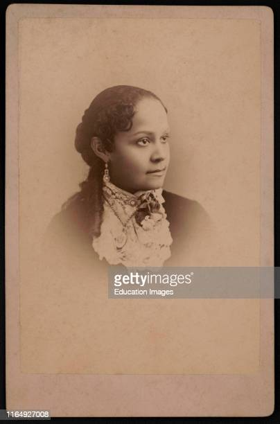 Fannie Barrier Williams, 1855-1944, African American Educator and Activist, Cabinet Card, Paul Tralles, 1885.