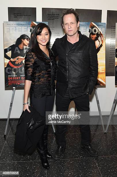 Fannie Chan and actor Dean Winters attend the special screening of Relativity Studio's Desert Dancer at Museum of Modern Art on April 7 2015 in New...