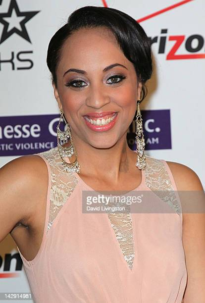 Fannie Lou Hamer Award recipient Schinal Walker attends the 2012 Jenesse Silver Rose Awards gala and auction at the Beverly Hills Hotel on April 14...