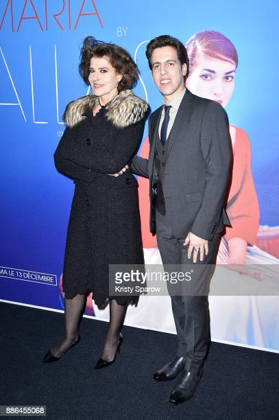 Fanny Ardant and Director Tom Volf attend the 'Maria By Callas' Paris Premiere at Cinema UGC Normandie on December 5 2017 in Paris France