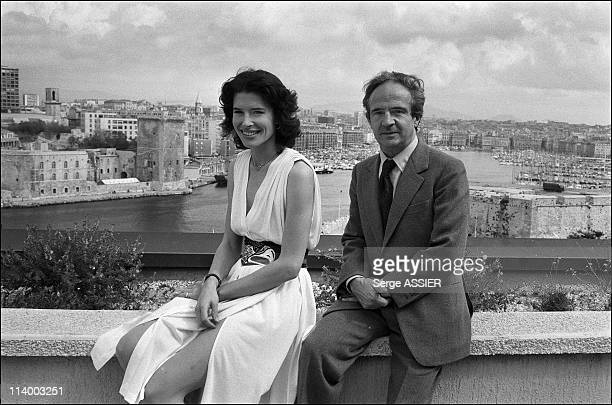 Fanny Ardant and Francois Truffaut present the film 'La femme d'a cote' In Marseille France In September 1981