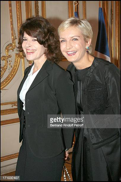 Fanny Ardant and Melita Toscan Du Plantier David Lynch is made Officer of the Legion of Honor at the Elysee palace