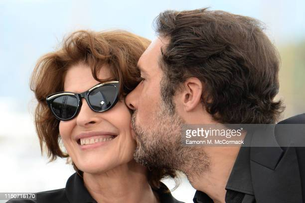 Fanny Ardant and Nicolas Bedo attend the photocall for Le Belle Epoque during the 72nd annual Cannes Film Festival on May 21 2019 in Cannes France