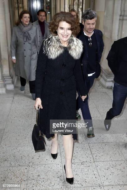 Fanny Ardant attends 'Dalida Une GardeRobe a la Ville et a la Scene' Exhibition Launch at Palais Galliera on April 25 2017 in Paris France
