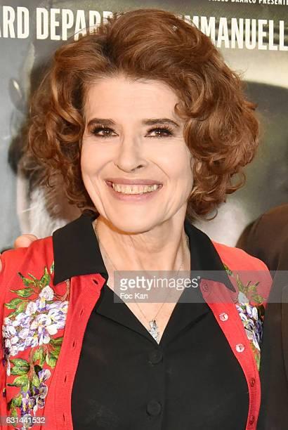 Fanny Ardant attends 'Le Divan de Staline' Paris Premiere at Cite Cine des Halles on January 10 2017 in Paris France