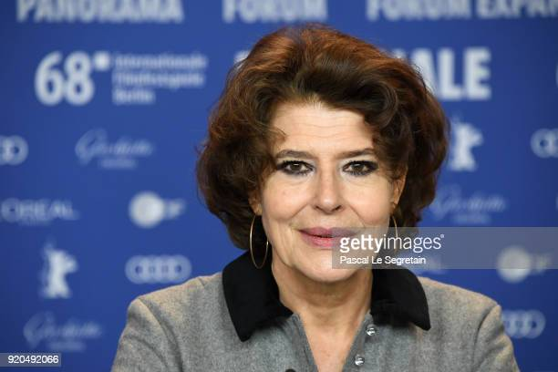 Fanny Ardant attends the 'Shock Waves' press conference during the 68th Berlinale International Film Festival Berlin at Grand Hyatt Hotel on February...