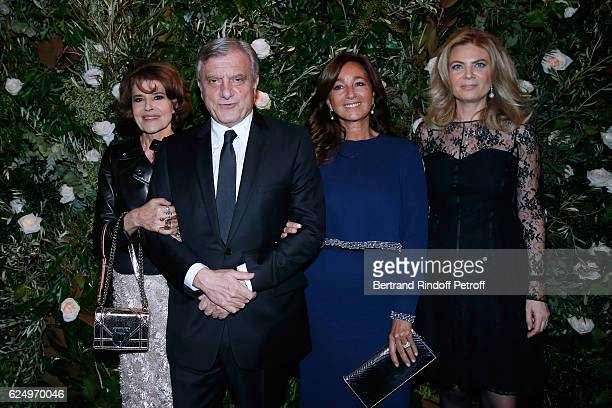 Fanny Ardant CEO Dior Sidney Toledano his wife Katia and President of Care France Arielle de Rothschild attend the 'Diner des amis de Care' for the...