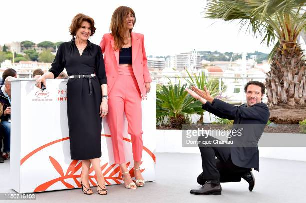 Fanny Ardant Doria Tillier and Nicolas Bedo attend the photocall for Le Belle Epoque during the 72nd annual Cannes Film Festival on May 21 2019 in...
