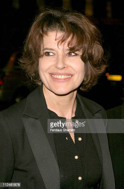 Fanny Ardant during 2004 Renault French Film Season Gala Opening Pas Sur La Bouche Arrivals Arrivals at UGC Haymarket in London Great Britain