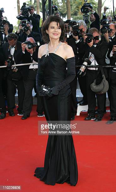 Fanny Ardant during 2005 Cannes Film Festival Closing Ceremony and Chromophobia Screening at Palais Du Festival in Cannes France
