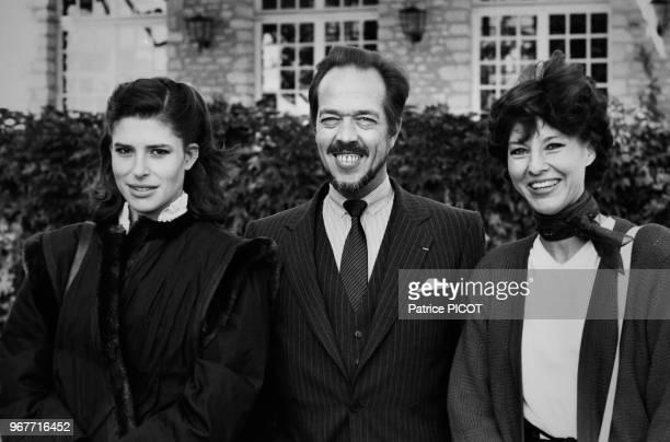 Fanny Ardant Henri d'Orléans et Denise Fabre lors du Trophée Lancôme à SaintNomlaBretèche le 20 octobre 1980 France