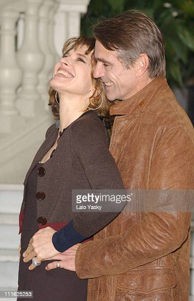 Fanny Ardant Jeremy Irons during 'Callas Forever' Photocall in Madrid at Ritz Hotel in Madrid Spain
