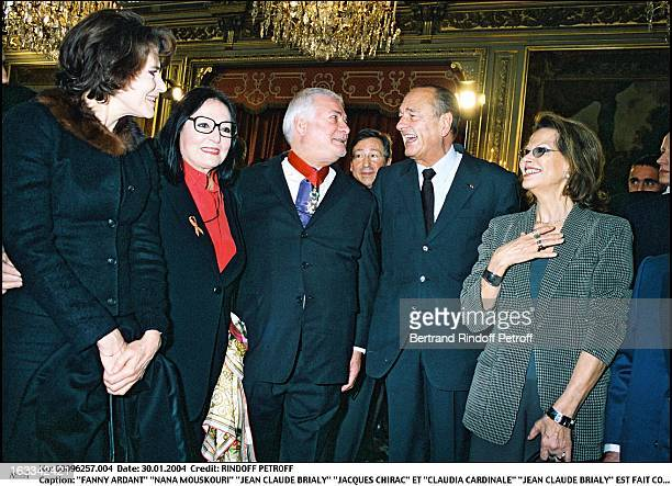 Fanny Ardant Nana Mouskouri Jean Claude Brialy Jacques Chirac and Claudia Cardinale Jean Claude Brialy is made commander of the Legion of Honor