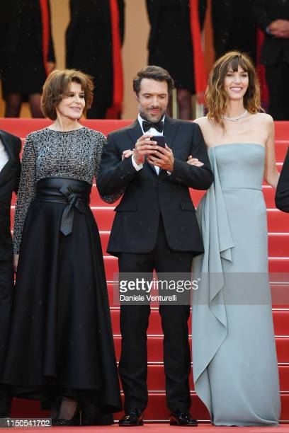 Fanny Ardant Nicolas Bedos and Doria Tillier attend the screening of La Belle Epoque during the 72nd annual Cannes Film Festival on May 20 2019 in...