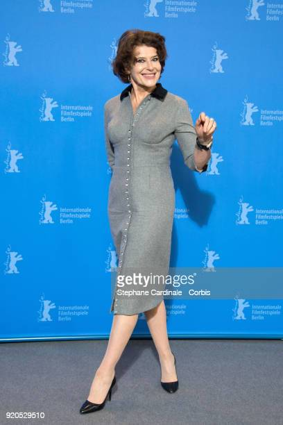 Fanny Ardant poses at the 'Shock Waves' photo call during the 68th Berlinale International Film Festival Berlin at Grand Hyatt Hotel on February 19...