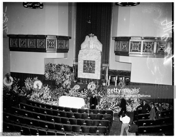 Fanny Brice funeral May 31 1951 Louis B MayerGeorge BurnsRalph LevyFrank FayMore descriptive information with originals
