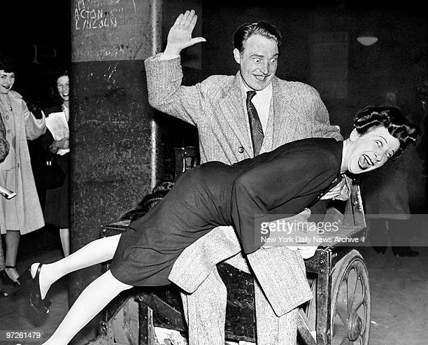 Fanny Brice radio's Baby Snooks was back in town yesterday after an absence of eight years She arrived from Washington DC accompanied by Hanley...