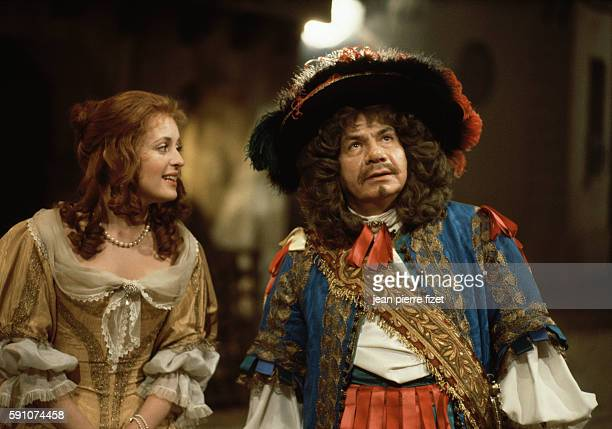 Fanny Cottencon and Michel Galabru in Michel Mitrani's 1985 movie Monsieur de Pourceaugnac based on a play by Moliere