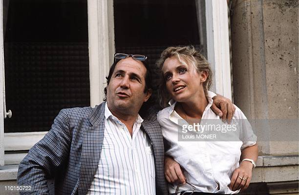 Fanny Cottencon and Roger Coggio actors in France on July 31 1986