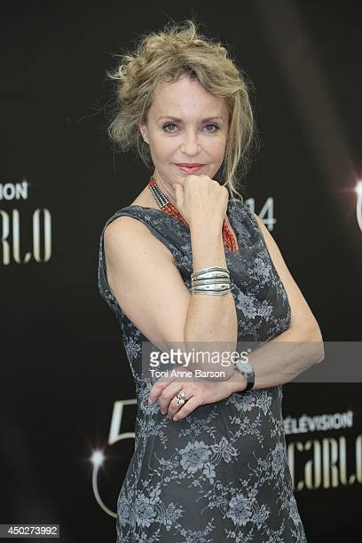 Fanny Cottencon attends Interventions Photocall at Grimaldi Forum on June 8 2014 in MonteCarlo Monaco