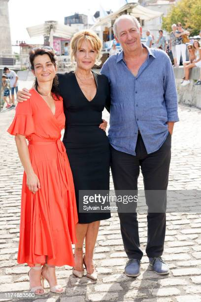Fanny Gilles Clémentine Celarié and Sam Karmann attend the 21th Festival of TV Fiction At La Rochelle Day Four on September 14 2019 in La Rochelle...