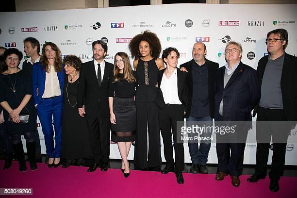 Fanny Herrero , Liliane Rovere, Thibault de Montalembert, Fanny Sidney, Stefi Celma, a guest, Cedric Klapisch, Dominique Besnehard and a guest attend...