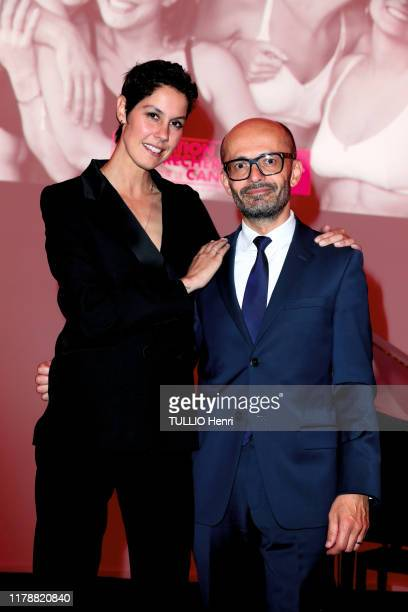 Fanny Leeb and Doctor Khalil Zaman are photographed for Paris Match at the evening gala for the Arc Foundation against cancer on October 07 2019 in...
