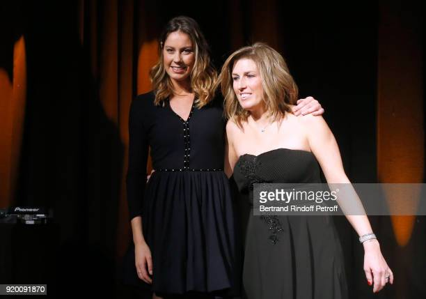 Fanny Leeb and President of the L'Etoile de Gael Association Karine Blanc attend the Snow Night La Nuit des Neiges Charity Gala on February 17 2018...