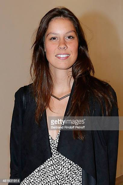 Fanny Leeb daughter of Michel Leeb attends the Lan Yu show as part of Paris Fashion Week Haute Couture Fall/Winter 20142015 at the Grand Palais on...