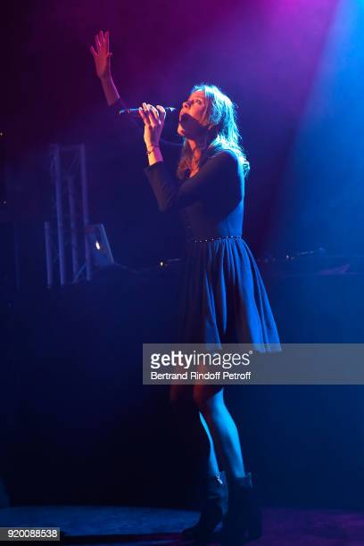 Fanny Leeb performs during the Snow Night La Nuit des Neiges Charity Gala on February 17 2018 in CransMontana Switzerland